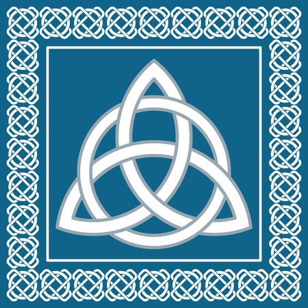 Ancient symbol triskel, traditional element for celtic ethnic design -  vector illustration Vector