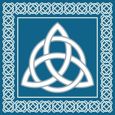 swastika: Ancient symbol triskel, traditional element for celtic ethnic design -  vector illustration