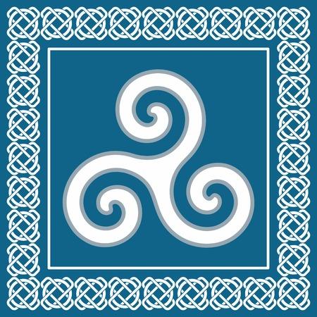 古代のシンボル三つ巴またはトリスケレ ケルト スカンジナビア エスニックなデザイン - ベクター グラフィックの典型的な伝統的な要素  イラスト・ベクター素材