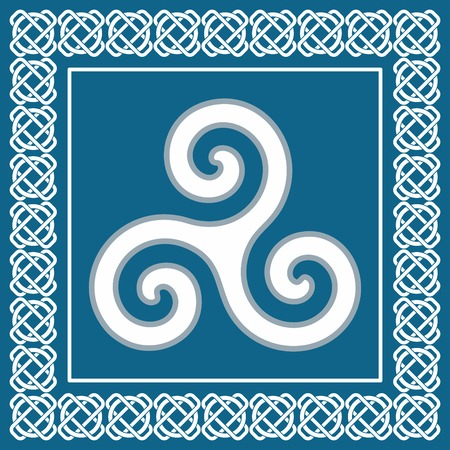 Ancient symbol triskelion or triskele, traditional element typical for celtic  scandinavian  ethnic design -  vector illustration