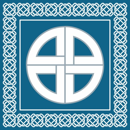 Ancient Celtic knot,symbol of protection used by vikings,scandinavian warriors, vector illustration for ethnic design