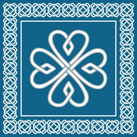 pagan: Shamrock - celtic knot,traditional symbol of Irish St.Patrick day Illustration