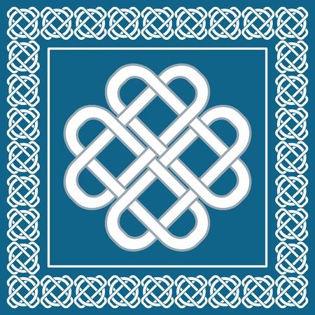 Celta nudo de amor, símbolo de la buena fortuna Vectores