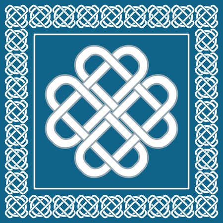 Celtic love knot, symbol of good fortune  Illustration