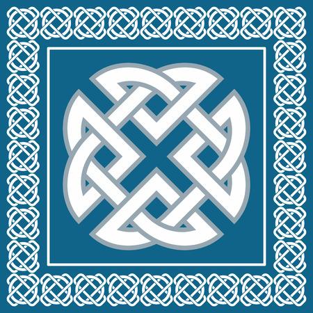ケルト族の結び目のシンボルを表す 4 つの要素地球、火、水、空気  イラスト・ベクター素材