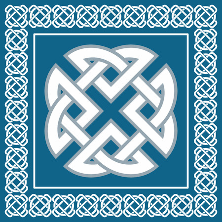 Keltische knoop, symbool staat voor de vier elementen Aarde, Vuur, Water, Lucht Stockfoto - 27899263