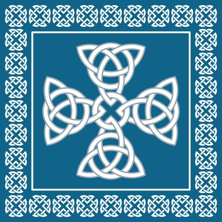 pagan cross: Celtic cross ornament, symbolizes eternity
