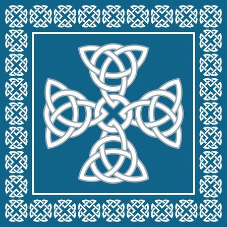 croce celtica: Ornamento croce celtica, simbolo di eternit�