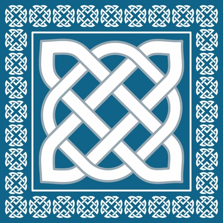 sacral: Traditional irish celtic knot motif