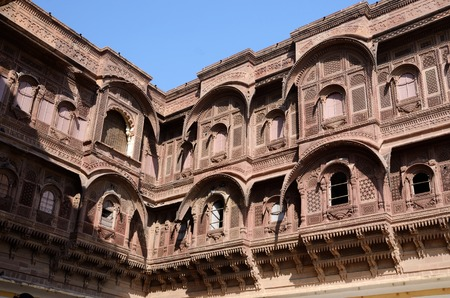 Traditional medieval house  haveli  in Jodhpur blue city,Rajasthan,India