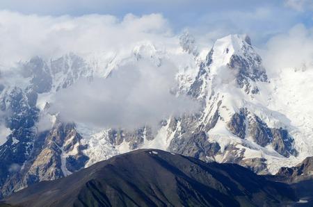 Transcaucasia mountains,Upper Svaneti,popular trekking destination,Georgia, Europe photo