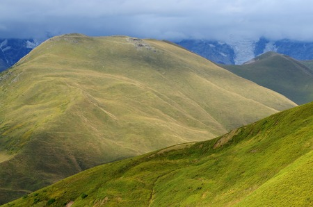 alpine zone: Mountains in Upper Svaneti, zone of alpine meadows,popular trekking destination ,Caucasus mountains, Georgia, Europe