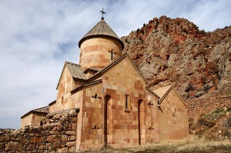 monastery nature: Backside wall of Surb Karapet (St. John the Baptist) church,Noravank monastery, Armenia,Central Asia