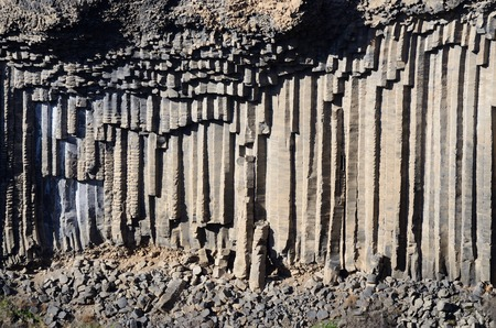 Basalt columns of Garni gorgeArmeniaCaucasus mountains Central Asia