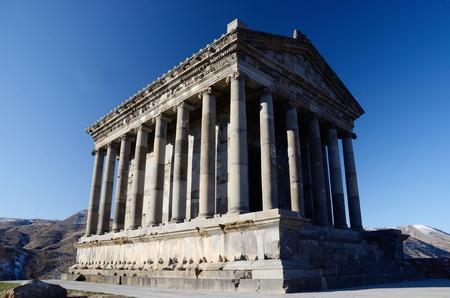 pagan: Pagan sun templeGarniArmenia. Classical Hellenistic building  Stock Photo