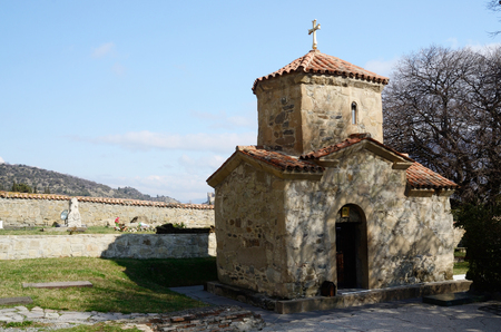 holiest: Tiny St. Nino Church at Samtavro Monastery in Mtskheta, ancient capital and one of oldest cities of Georgia.Saint Nino is Georgias holiest saint, as she brought Christianity to country in year 337
