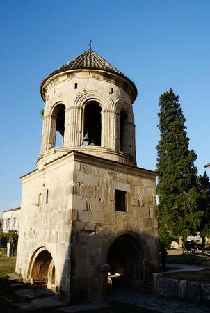 kutaisi: Bell tower of Gelati monastic complex near Kutaisi ,Imereti, western Georgia, unesco heritage site
