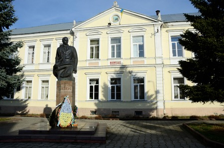 activist: Stryi,Ukraine,December 4 - statue of Ukrainian national and independence movement leader - Stepan Bandera in Stryi,Ukraine, on December,4,2015.Stryi is home town of this famous political activist Editorial