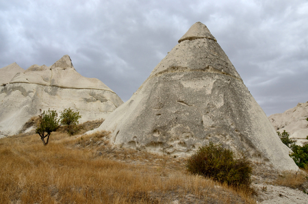 Famous Cappadocian landmark - volcanic rock cones,Love Valley,Turkey,Central Anantolia,Europe