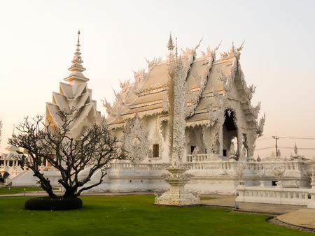 decorration: Landmark of northern Thailand Wat Rong Khun Chiang Rai