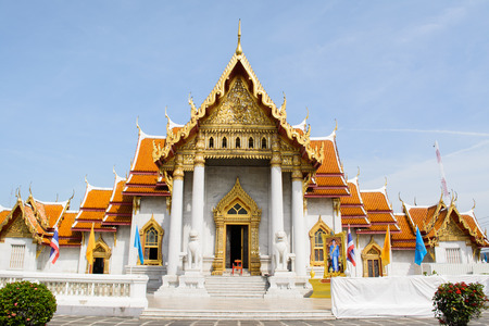 The most of beautiful Marble temple in Bangkok Thailand