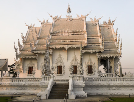 decorration: White Temple by famous artist in Chiang Rat northern Thailand