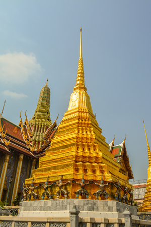 kaew: Wat Phra Kaew. Temple of the Emerald Buddha is regarded as the most sacred Buddhist temple in Bangkok Thailand.