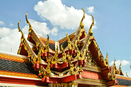 Wat Pho is a Buddhist temple complex Chinese and Thai style in Bangkok, Thailand