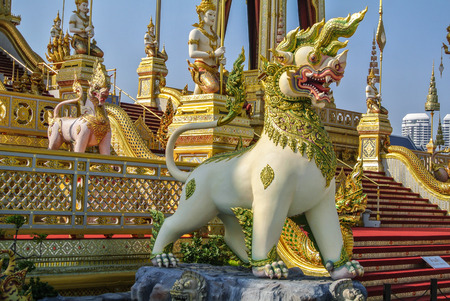 Decorating a crematorium for The Royal Cremation Ceremony of His Majesty the Late King, KING RAMA 9, 2017 Editorial