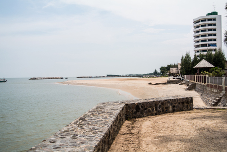 The beautiful beaches in Hua – Hin , the main attractions for tourist in Prachuap Khiri Khan province in southern of Thailand