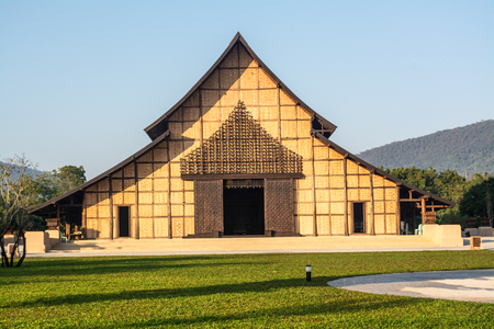 Architecture clay church for worshiping and praying in Northern of Thailand