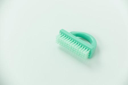 scoria: Brush for foot care isolated on white background Stock Photo