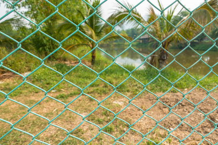 abatis: Green wire cage
