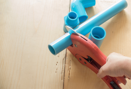 kunststoff rohr: scissors for cutting plastic pipe