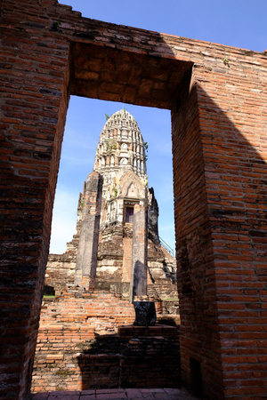 Historical Temple in Ayutthaya 免版税图像