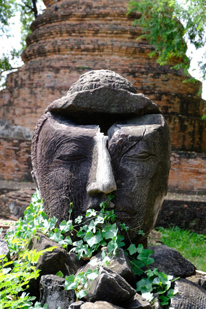 Buddha Head in Ayutthaya Heritage