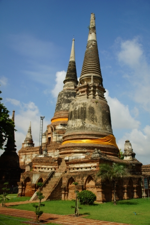 Ancient Agoda in Ayutthaya, Thailand Stock Photo