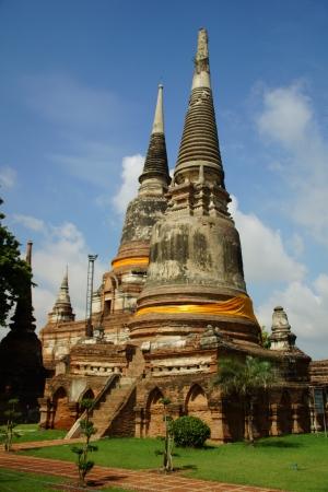 Ancient Agoda in Ayutthaya, Thailand Stock Photo - 13752738