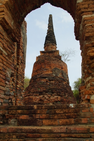 Ancient Pagoda in Ayutthaya Stock Photo