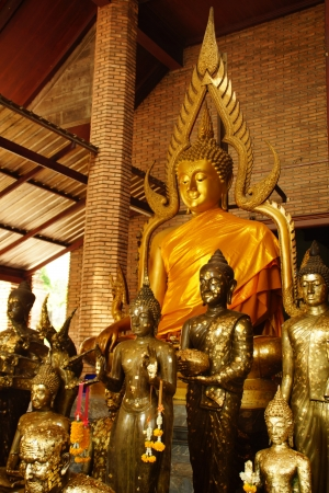 Ancient Buddha at a Temple in Ayutthaya, Thailand photo
