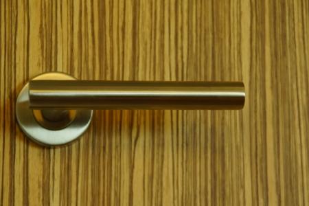 Wooden Door with Modern Knob photo