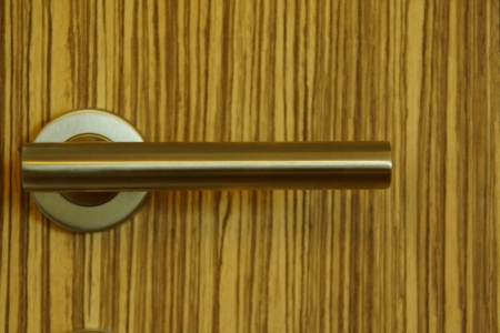 Wooden Door with Modern Knob photo