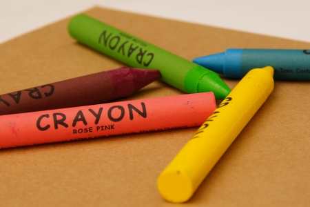 Wax Crayon on Craft Paper photo
