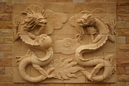 Sandstone Dragon Wall Background photo