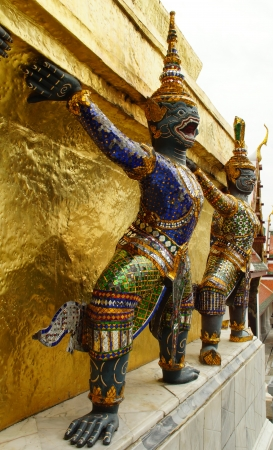 Demon Guardian and Architecture of Grand Palace, Bangkok, Thailand Stock Photo - 13971827