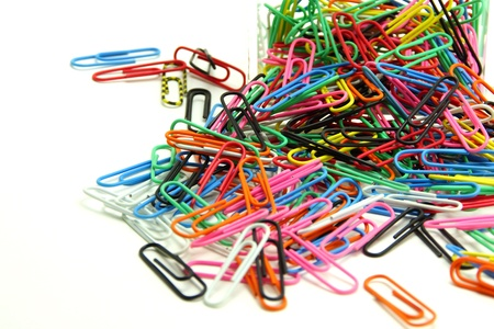 Colorful Paper Clips in Acrylic Box