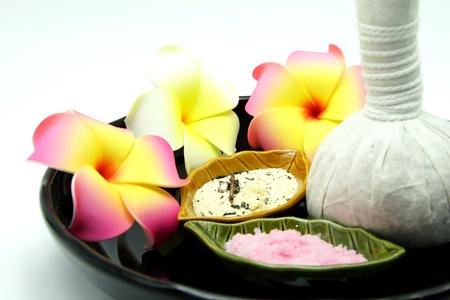 Thai Spa Herbal Massage Set in Tray on White Background