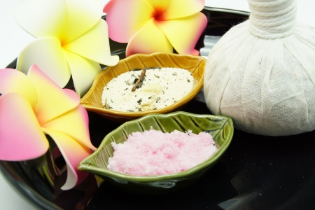 Thai Spa Herbal Massage Set in Tray Stock Photo - 14662378