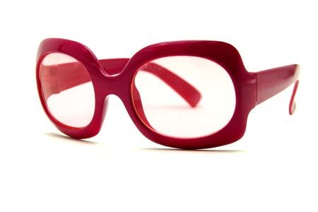 fashionable sunglasses: Fashionable Sunglasses on White Background