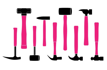 Hammer and Hand Tools Stock Vector - 21972317